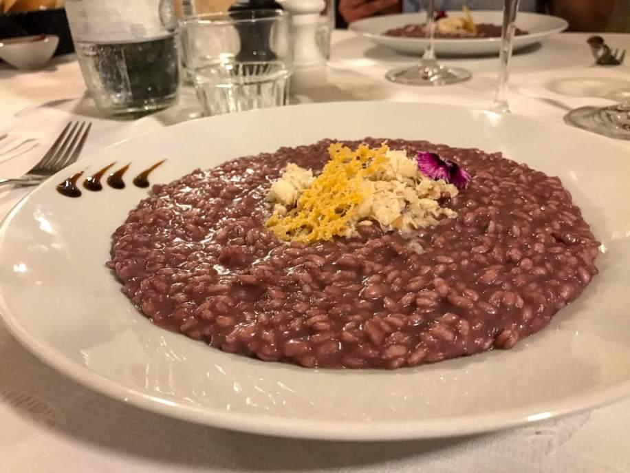 Best restaurants in Verona Italy - Trattoria Pane e Vino risotto