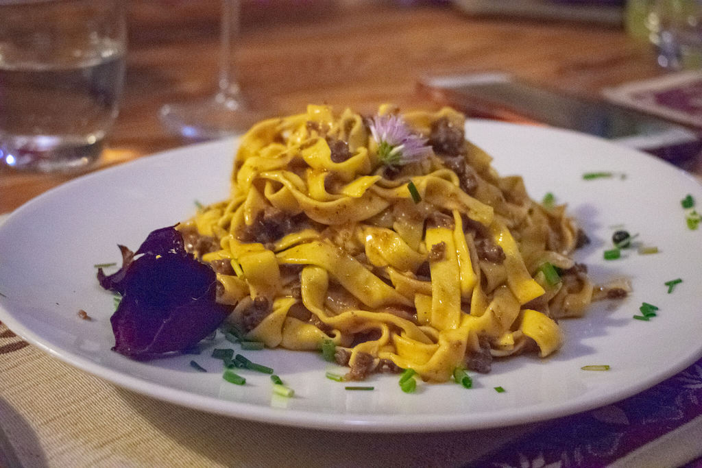 Visit Trentino Italy - plate of pasta