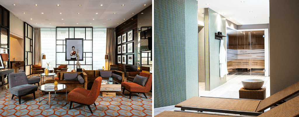 Lobby and spa in Ameron Hotel Regent Cologne