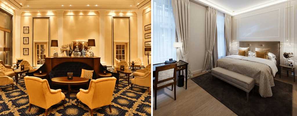 Luxury gold decorated Excelsior Hotel Ernst am Dom hotel in Cologne