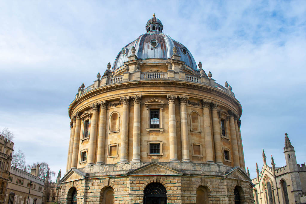 Large round dome of Radcliffe Camera in Oxford