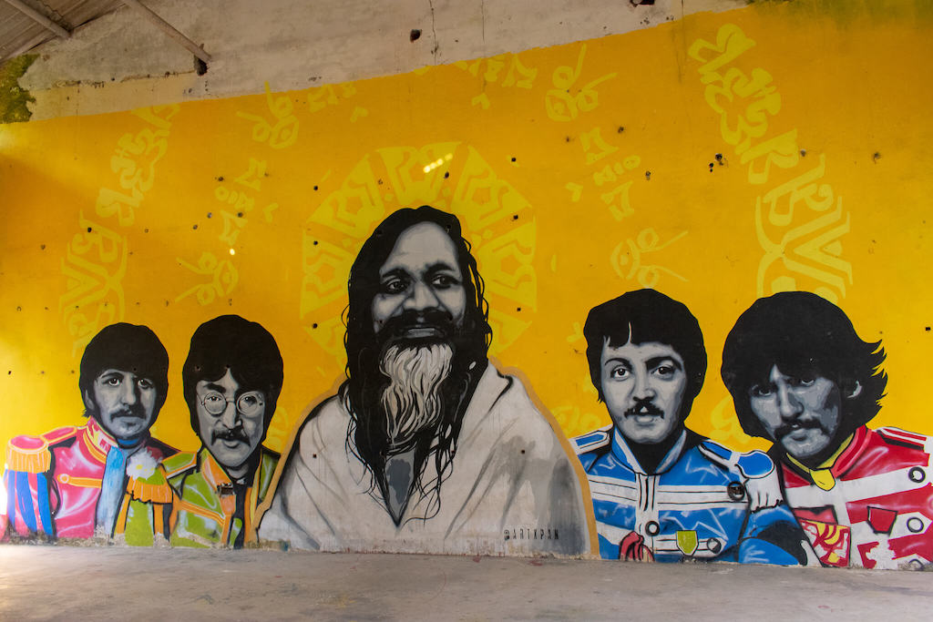 Graffiti at the Beatles Ashram in Rishikesh, North India