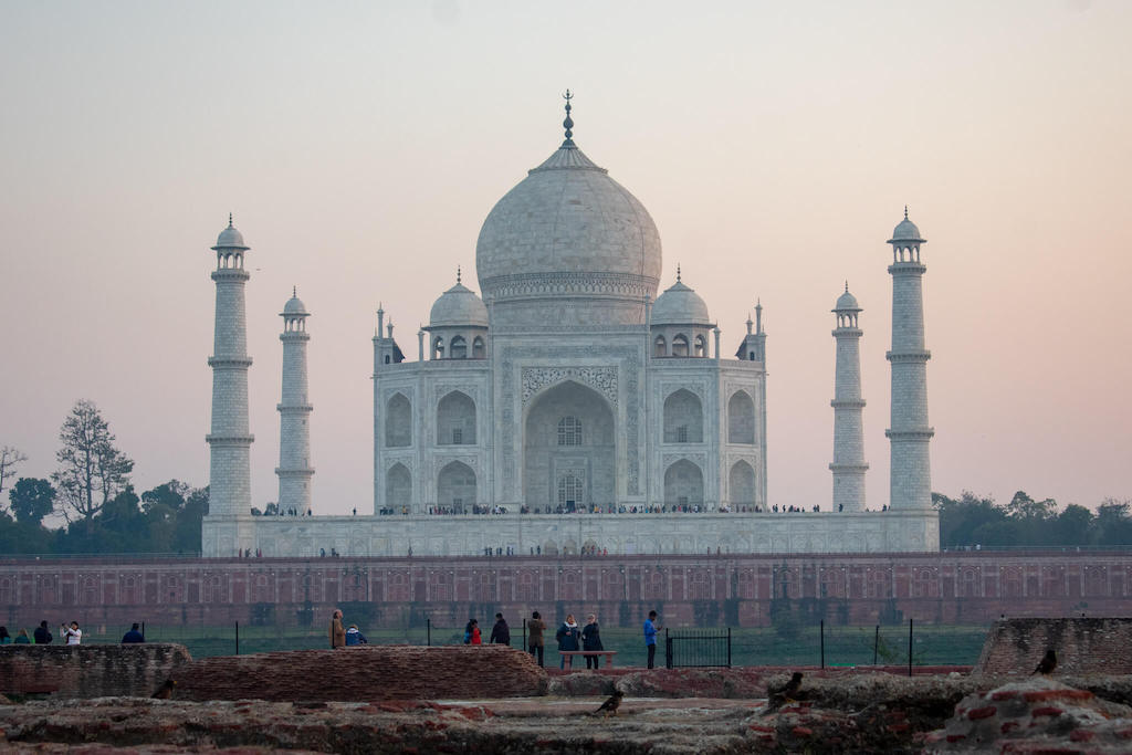 Places to visit in North India, Agra - Taj Mahal at Sunset