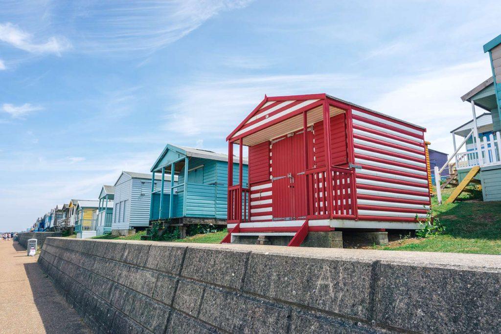 Beach huts at Whitstable beach