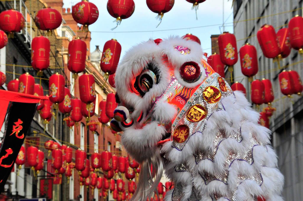Dragon at Chinese New Year in London