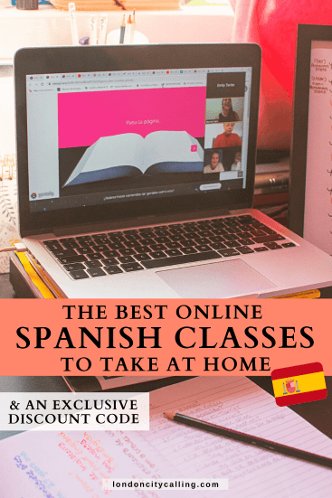 Learning Spanish online pin