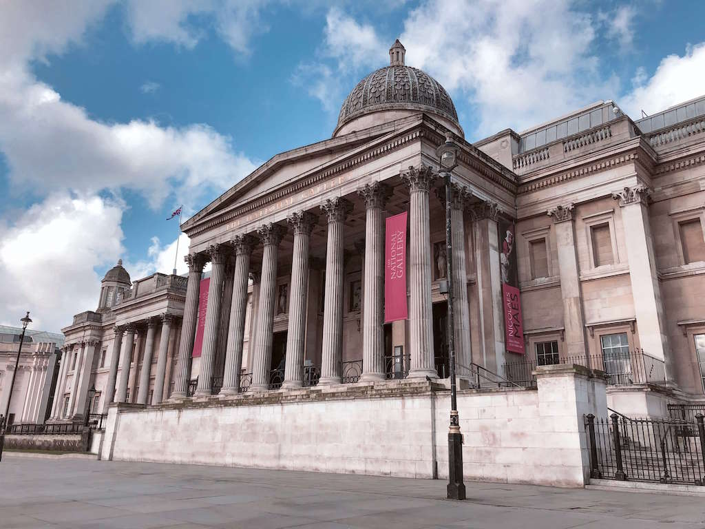 Pillared building of National Gallery London
