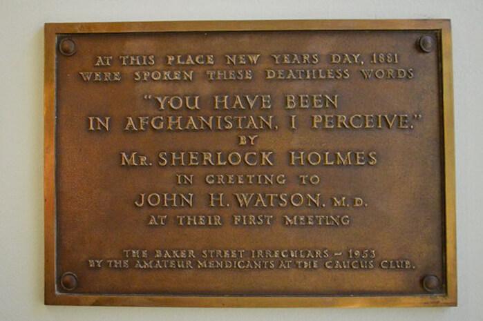 Sherlock Holmes St Barts Hospital