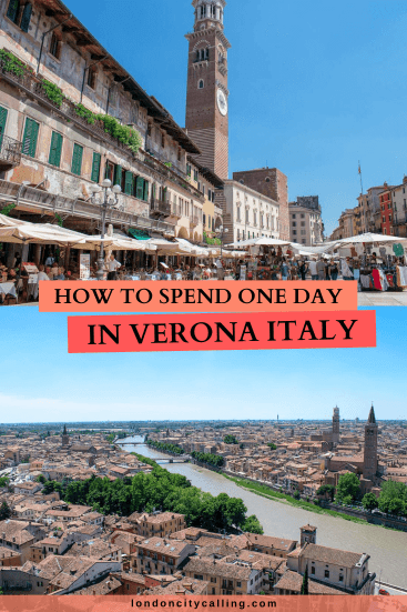 One day in Verona Italy pin