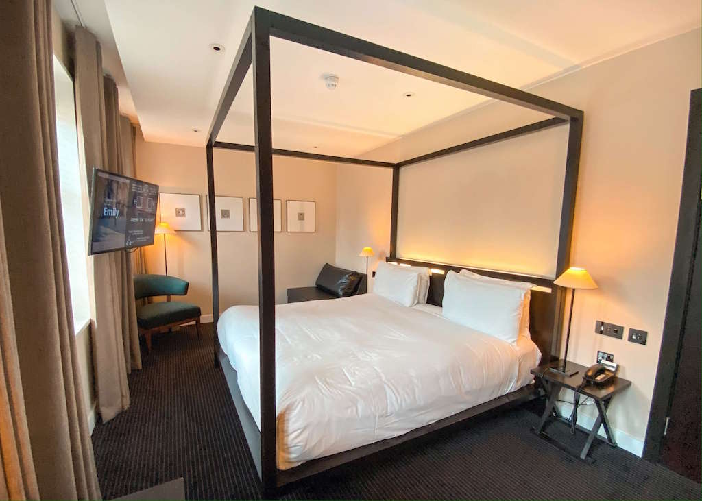 Four poster bed in The Resident Soho, where to stay in Soho London