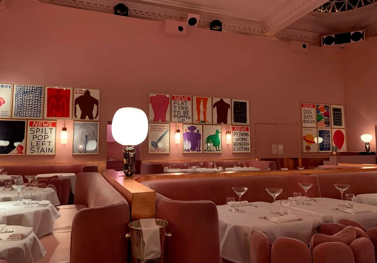 Sketch pink restaurant in London