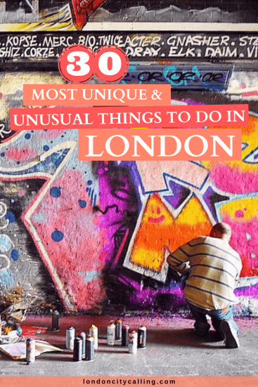 Unusual things to do in London England pin