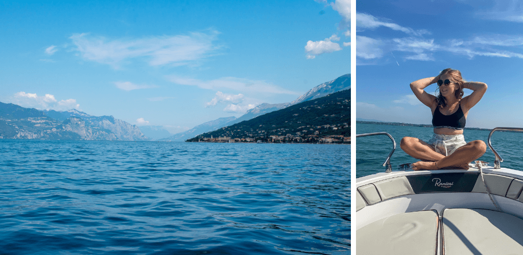 Boat on Lake Garda