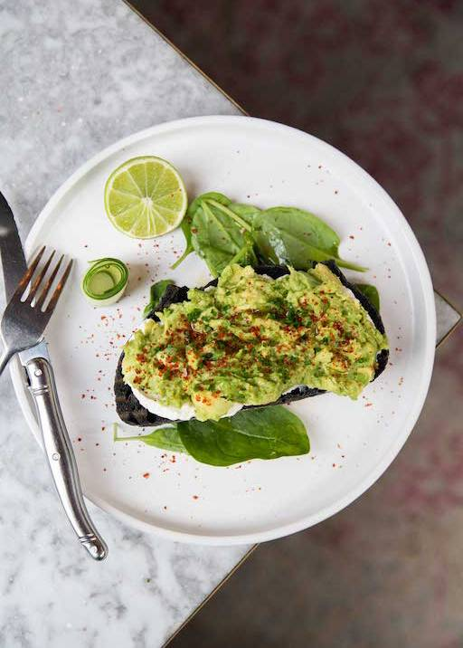Avocado toast in London