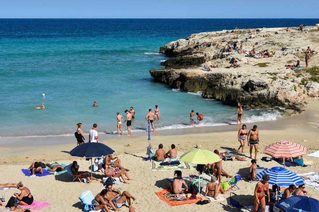 Beach in Monopoli Puglia