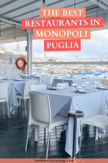 Best restaurants in Monopoli Puglia