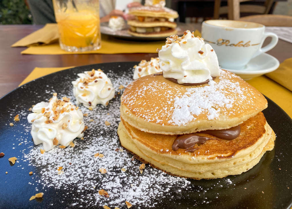 Pancakes at The King restaurant in Monopoli