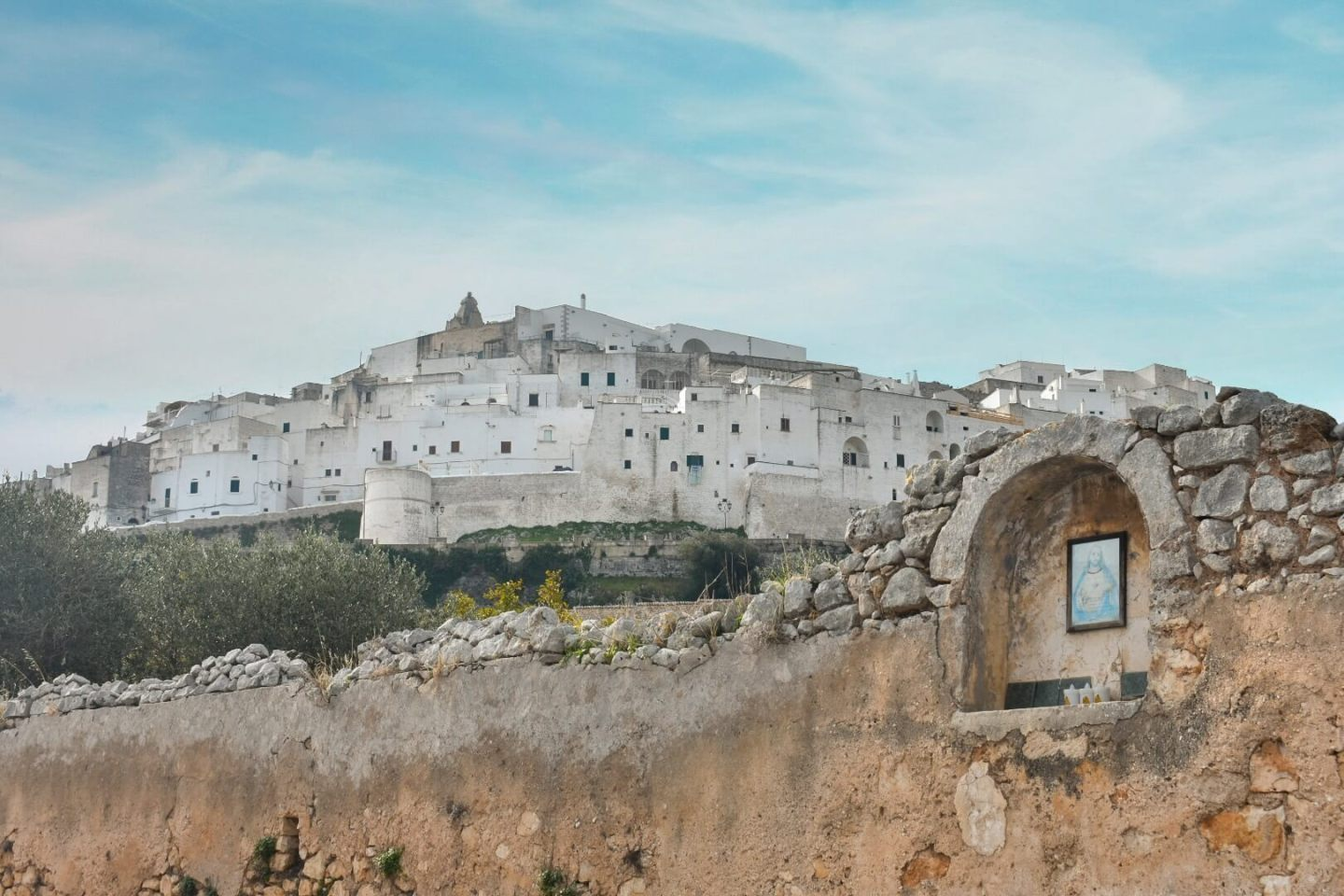 A view of Ostuni from a distance