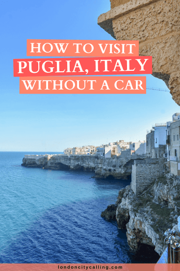 Travelling in Puglia without a car pin