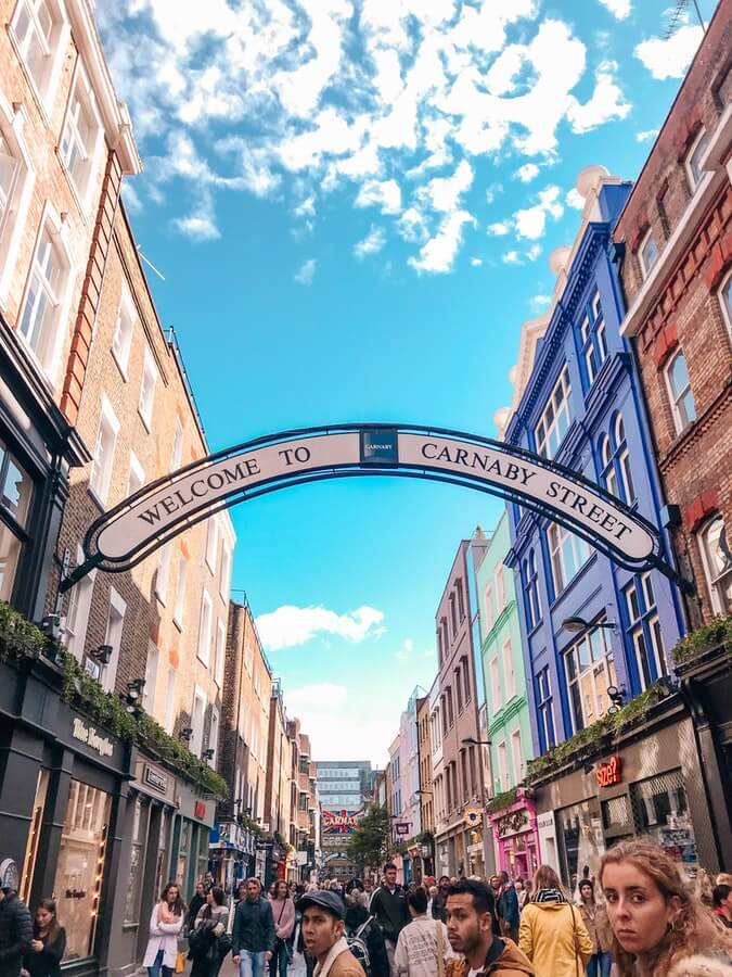 Carnaby London during the day