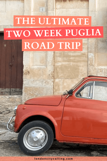 Puglia Road Trip Itinerary pin