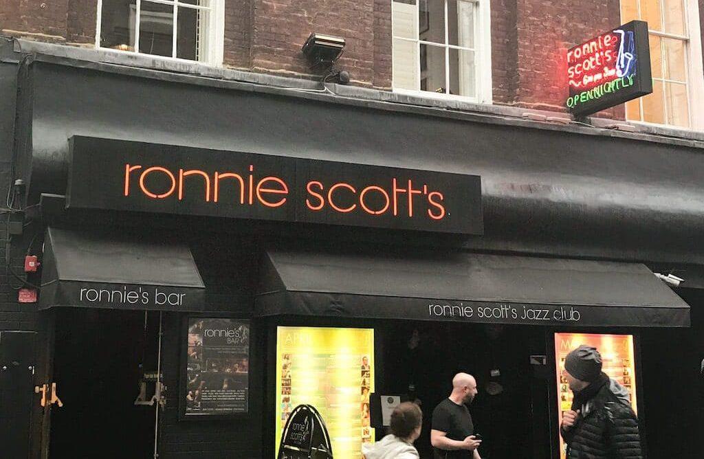 Ronnie Scotts Jazz Club in Soho London