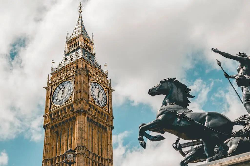 Big Ben in Westminster London
