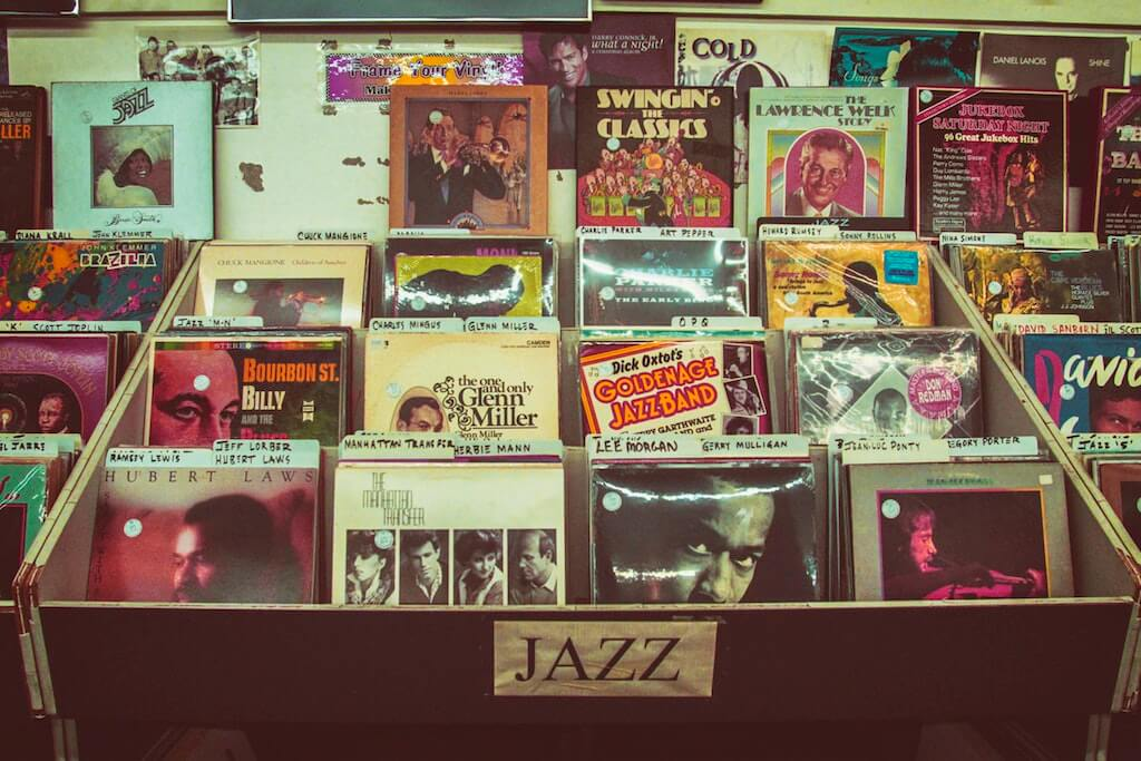 Vinyl record store in Soho London