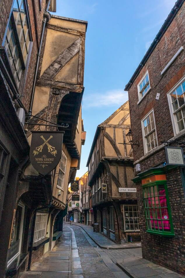Shambles in York, city in England