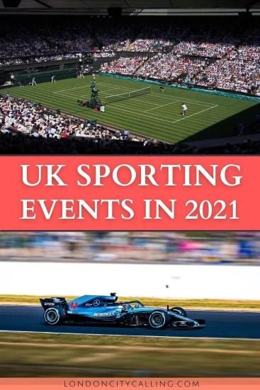 UK SPORTS EVENTS 2021