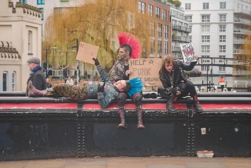 Punks in Camden town