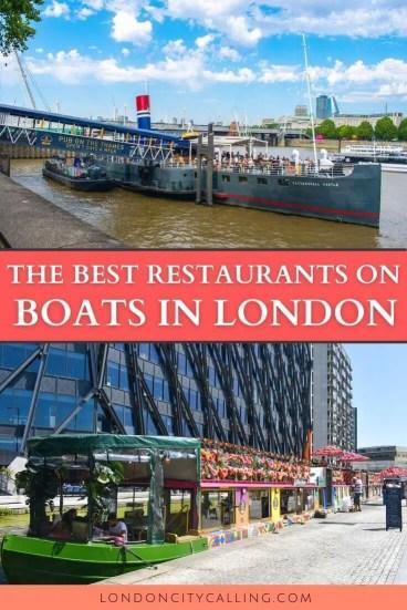 Boat restaurants in London