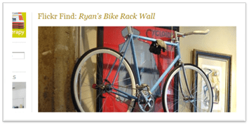 Ryans bike rack wall