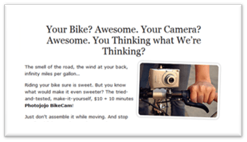 bike camera mount on photojojo