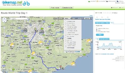 Bikemap.net  list of bike routes in london