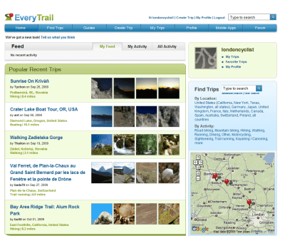 EveryTrail screenshot