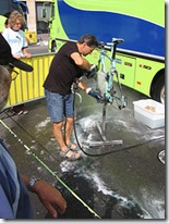 bike cleaning with a pressure hose