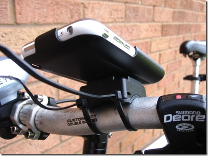 GoRide iPhone bike mount shown from rear