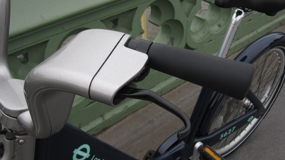 Handlebars on the TfL cycle hire bike