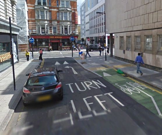 What would you do as a cyclist at this junction?