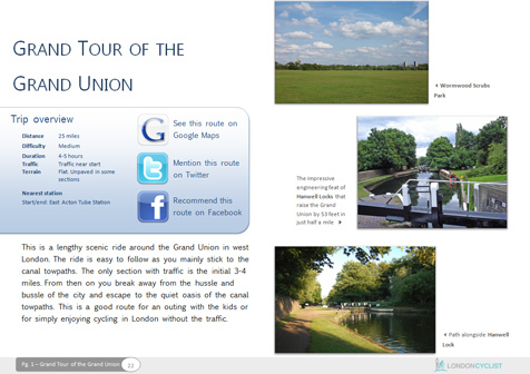 Grand Tour of the Grand Union Canal Cycle Route