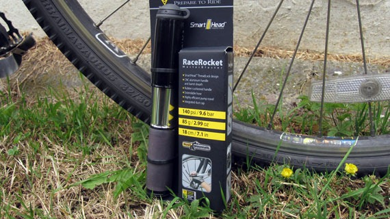 Topeak Race Rocket next to my bike tyres