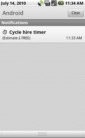 Cycle hire timer