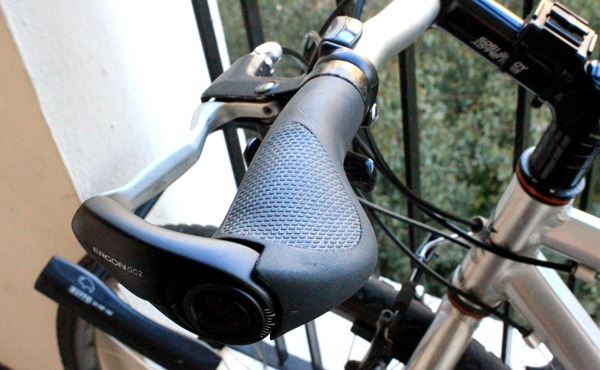 Ergon grips from overhead view