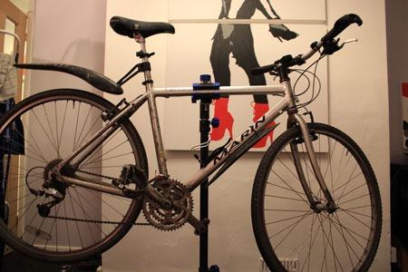 Bike on stand