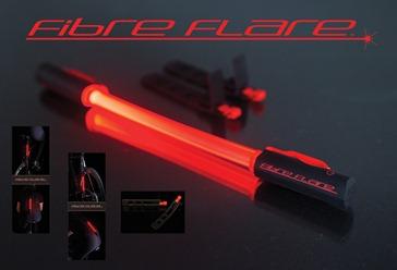 Fibre flare attachable bike light