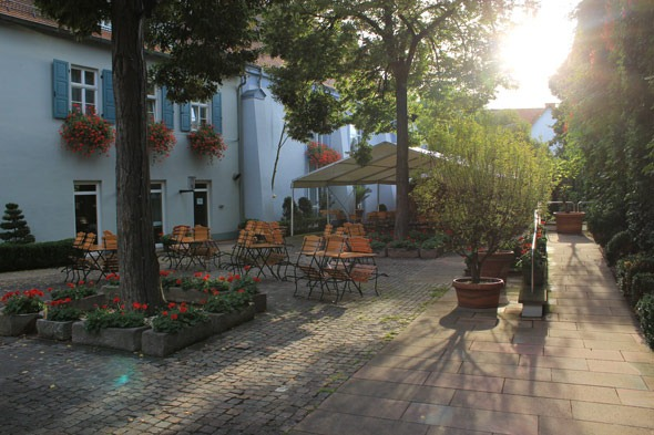 Hotel courtyard in Speyer