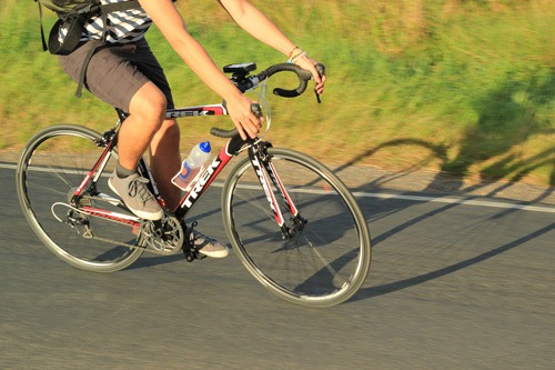 Without my cycling buddy how would I get a picture of me on my Trek Madone?