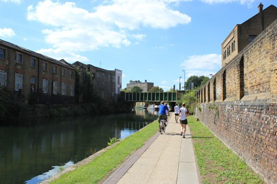 Canal towpath users