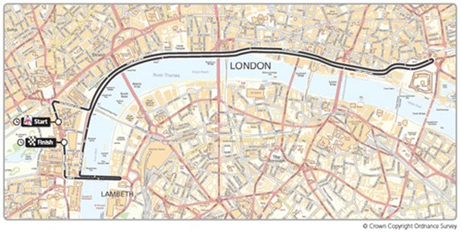 Tour of Britain Route